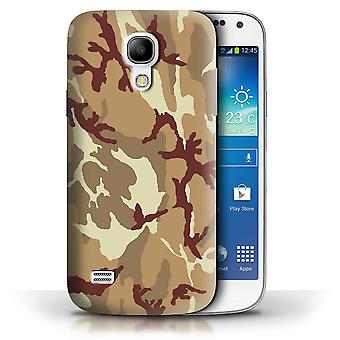 STUFF4 Case/Cover for Samsung Galaxy S4 Mini/Brown 4/Camouflage Army Navy