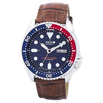 Seiko automatisk Diver ' s ratio brunt läder Skx009j1-LS7 200m män ' s klocka