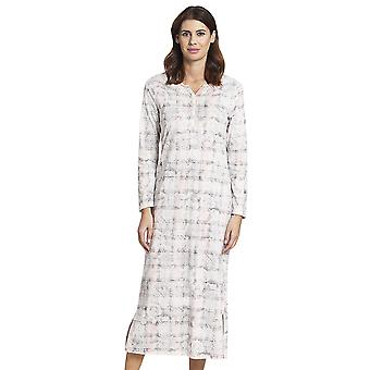 Rosch 1193556-16413 Women's Smart Casual Pink Paisley Check Cotton Nightdress