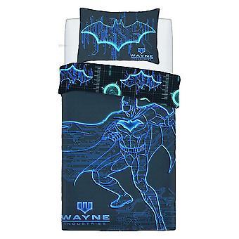 Batman Wayne Industries Panel Duvet Set