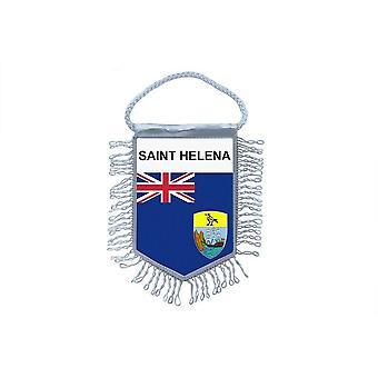 Sinalizar mini bandeira país carro decoração Saint Helene Saint Helena