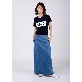 Matilda denim maxi skirt - pale wash