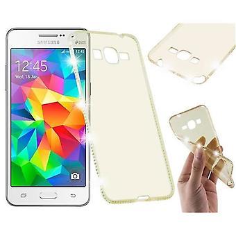 Cadorabo caso para Samsung Galaxy GRAND PRIME caso capa-TPU silicone telefone caso no projeto do rhinestone-caso de silicone protetora caso ultra slim macio tampa traseira caso pára-choques