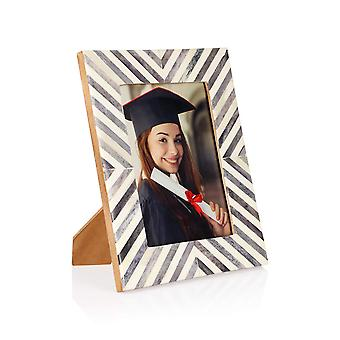 Penguin Home Handcrafted Patterned bone resin photo frame