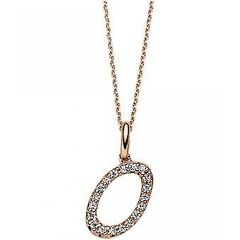 Diamantcollier Collier - O - 14K 585/- Red Gold - 0.07 ct.