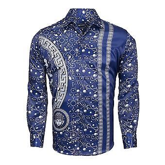 Oscar Banks Mythological Patterned Mens Shirts