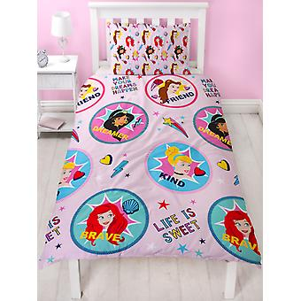 Disney Princess Fearless Single Duvet Cover Set