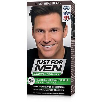 Apenas para homens a cor do cabelo real - preto H55