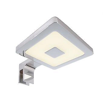 Lampe miroir LED Corner II 4.5 W 3000 K 80x120 mm dimmable aluminium ip44