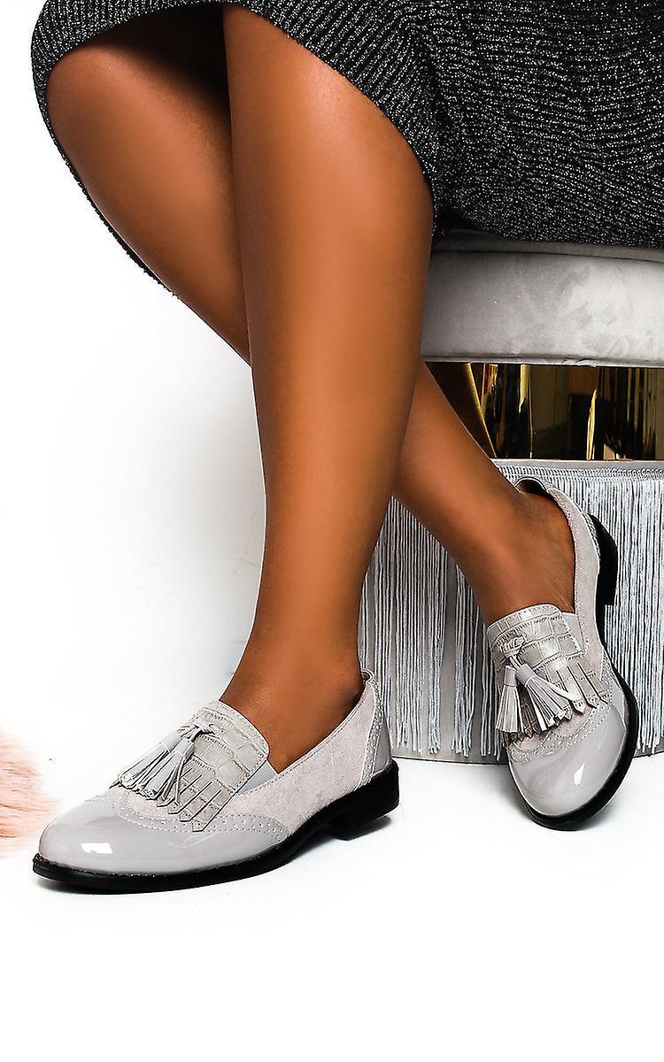 IKRUSH Womens Sara Faux Leather Tassel Brogue Flats Lz6kQ