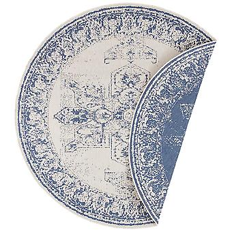 Tapis réversible plat tissé intérieur et extérieur Borbon Blue