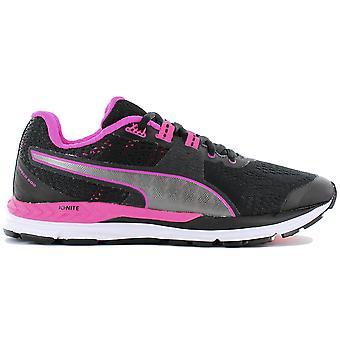 بوما سرعة 600 إشعال Wns 188789-07 المرأة أحذية الجري أحذية رياضية سوداء أحذية رياضية