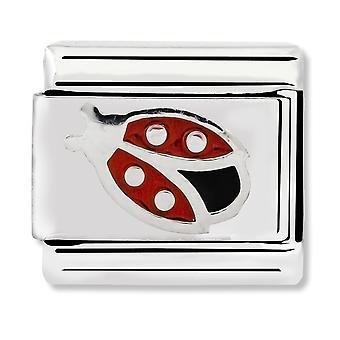 Nomination Classic Ladybird Enamel Link Charm 330202/15