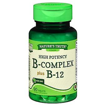 Nature's truth high potency b-complex plus b-12, tablets, 90 ea