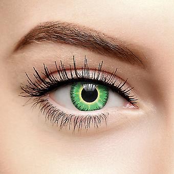 grønn gul fusion fargede kontaktlinser (daglig)