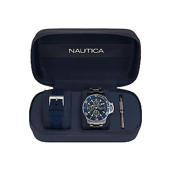 Nautica Watch NAPBYS006 - Plated Stainless Steel Gents Quartz Multifonction