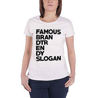 Slogan T Shirt Famous Brand Trend Slogan Block Logo Official Unisex New White