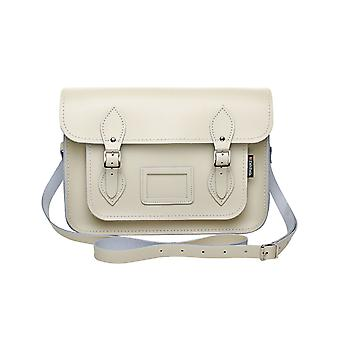 Zatchels Womens/Ladies Handcrafted Pastel Leather Mag Dots Satchel Bag (British Made)