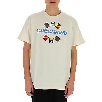 Gucci 565806xjb2x9756 Men's White Cotton T-shirt