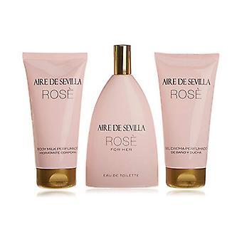 Women's Perfume Set Rosa Aire Sevilla (3 uds)