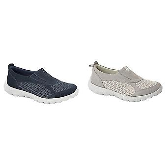 Boulevard Womens/Ladies Twin Gusset Casual Slip On Shoes