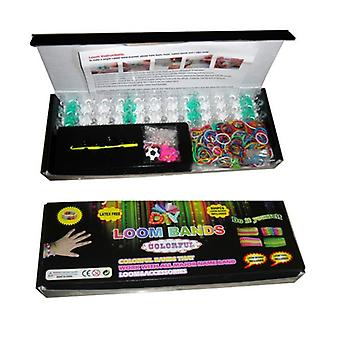 Loom Bands Friendship Bracelet Kit - 600 Latex Free Bands + 24 S-clips + 1 Loom Board + 1 Hook