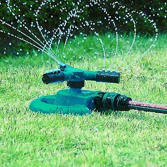Garden Sprinkler Automatic Lawn Water Sprinkler 360 Degree 3- Arm Rotating Sprinkler System