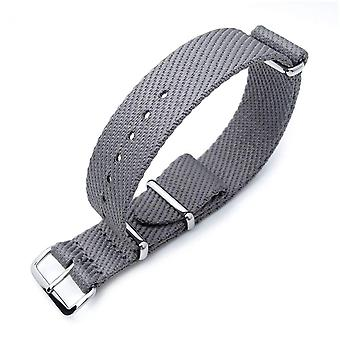Strapcode n.a.t.o watch strap miltat 20mm g10 military nato watch strap, waffle nylon armband, polished - military grey