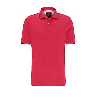 Fynch-Hatton Fynch Hatton Contrast Polo Shirt Flamingo/avy
