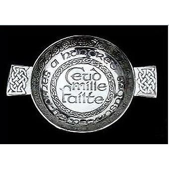 Ceud Mille Failte - Hundred Thousand Welcomes Pewter Quaich - 130mm