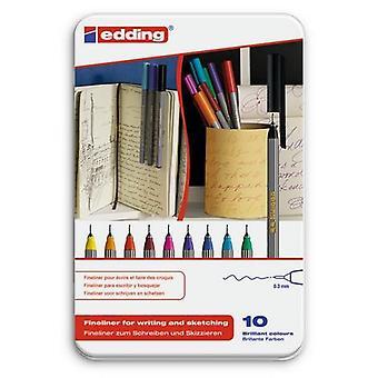 edding-55 اله fineliner 10PC 0،3 مم / 4-55-10