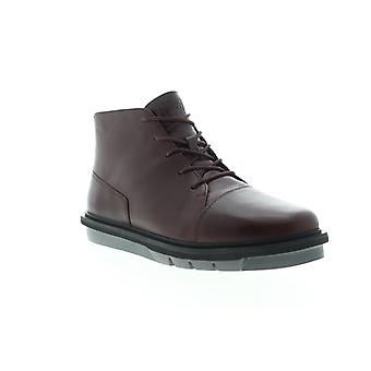 Camper Mateo  Mens Brown Leather Mid Top Lace Up Casual Dress Boots