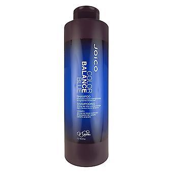 El champú azul de balance de color Joico elimina los tonos brassy/orange en el cabello castaño aclarado 33.8 oz