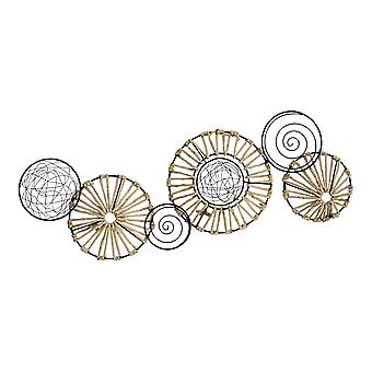 Metal and Rattan Large Centerpiece Wall Décor