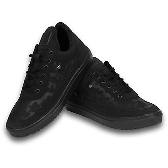 Shoes - Sneaker Low Camouflage Side - Case Army Full Black - Black