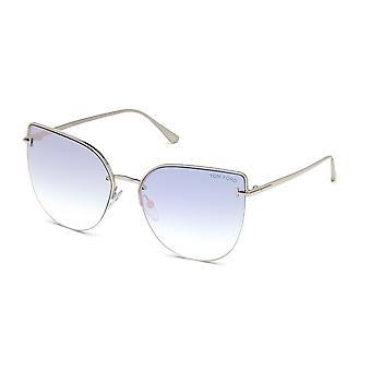 Tom Ford Ingrid-02 TF652 16Z Shiny Palladium/Blue Gradient Sunglasses