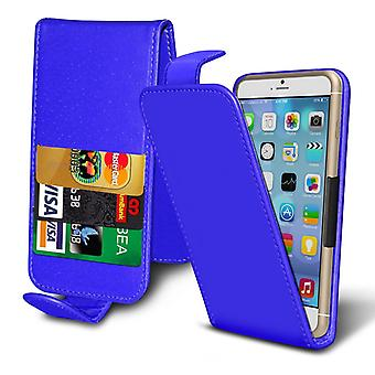 ( Blue ) Case For BLACKVIEW A8 Faux Leather Spring Clamp Adjustable Flip Case BLACKVIEW A8 Cover By i-Tronixs