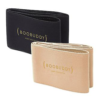 Boobuddy breast support band bundle – beige & black