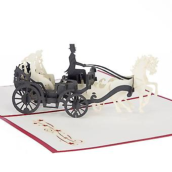 Cardology Wedding Carriage Pop Up Card