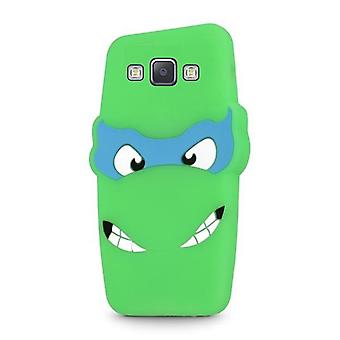 Samsung Galaxy A5 (2015) - 3D Silikone Beskyttelse Shell - Grøn