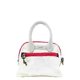 Sacai S05101151 Women's White Synthetic Fibers Handbag