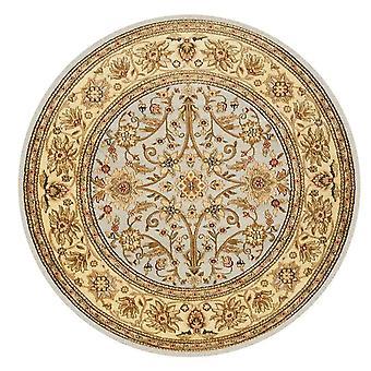 Rond kristal fluwelen tapijt Multicolor etnische stijl gedrukt tapijt Stijlvol en persoonlijkheid voor slaapkamer en woonkamer