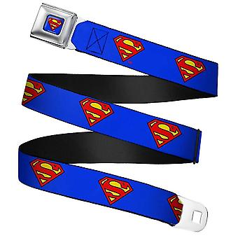 DC Comics Superman Logo Full Colour Webbing Seatbelt Buckle Belt