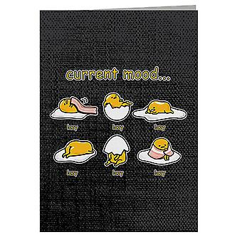 Gudetama Current Mood Lazy Greeting Card