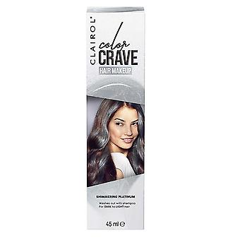 Clairol Color Crave Hair Make Up Washes Out with Shampoo 45ml Shimmering Platinum