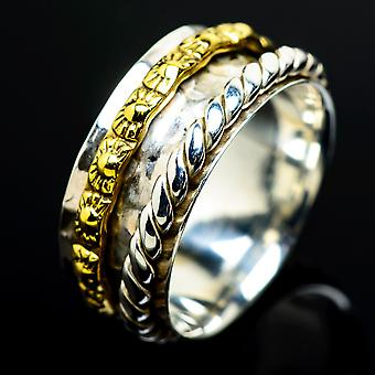 Meditation Spinner Ring Size 6 (925 Sterling Silver)  - Handmade Boho Vintage Jewelry RING7528