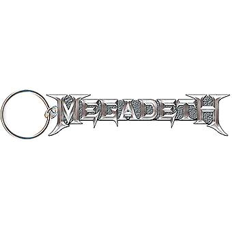 Megadeth Keyring Classic Silver Band Logo new Official Metal