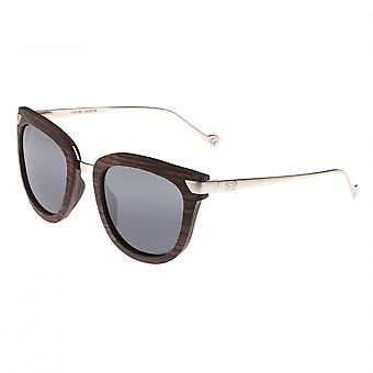 Earth Wood Nissi Polarized Sunglasses - Brown Zebra/Black