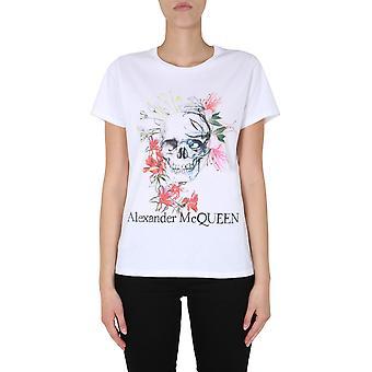 Alexander Mcqueen 620615qzabl0900 Frauen's weiße Baumwolle T-shirt