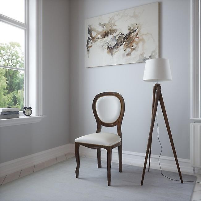 Sedia Dioniso Colore Noce, Beige in Legno, L50xP50xA95 cm